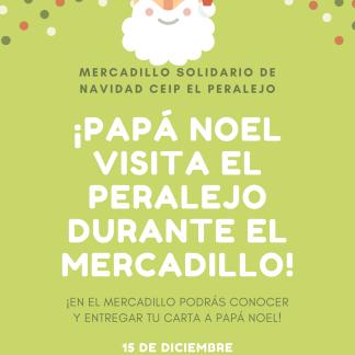 VISITA PAPA NOEL MERCADILLO